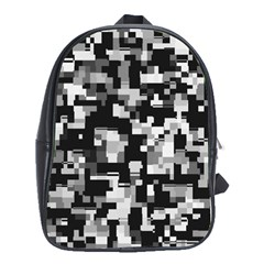 Noise Texture Graphics Generated School Bags (XL)