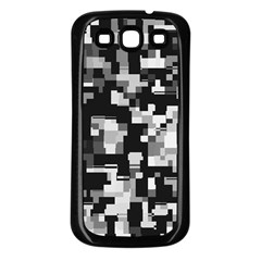 Noise Texture Graphics Generated Samsung Galaxy S3 Back Case (Black)