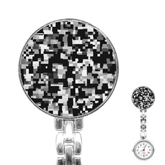 Noise Texture Graphics Generated Stainless Steel Nurses Watch