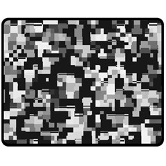 Noise Texture Graphics Generated Double Sided Fleece Blanket (Medium)