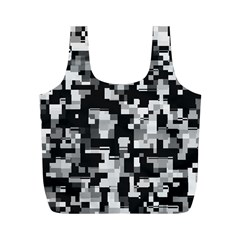 Noise Texture Graphics Generated Full Print Recycle Bags (M)