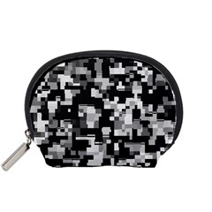 Noise Texture Graphics Generated Accessory Pouches (Small)
