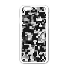 Noise Texture Graphics Generated Apple iPhone 6/6S White Enamel Case
