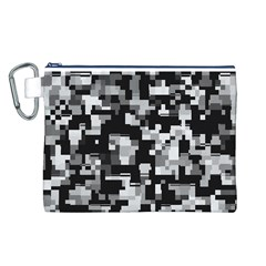 Noise Texture Graphics Generated Canvas Cosmetic Bag (L)