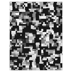 Noise Texture Graphics Generated Drawstring Bag (Large)