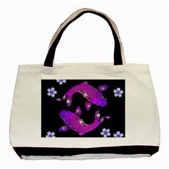 Koi Carp Fish Water Japanese Pond Basic Tote Bag (Two Sides)