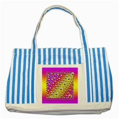 Happy And Merry Music Striped Blue Tote Bag