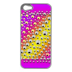 Happy And Merry Music Apple iPhone 5 Case (Silver)