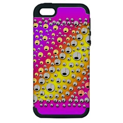 Happy And Merry Music Apple iPhone 5 Hardshell Case (PC+Silicone)
