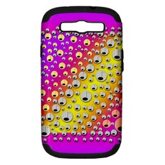 Happy And Merry Music Samsung Galaxy S III Hardshell Case (PC+Silicone)