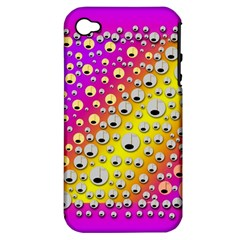 Happy And Merry Music Apple iPhone 4/4S Hardshell Case (PC+Silicone)