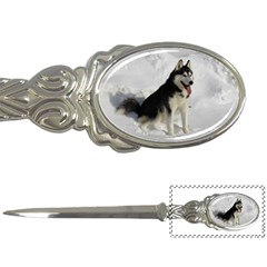 Siberian Husky Sitting in snow Letter Openers
