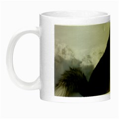 Siberian Husky Sitting in snow Night Luminous Mugs