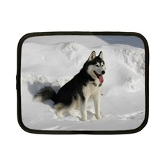 Siberian Husky Sitting in snow Netbook Case (Small)