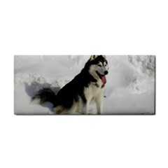 Siberian Husky Sitting in snow Cosmetic Storage Cases