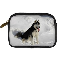 Siberian Husky Sitting in snow Digital Camera Cases