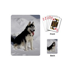 Siberian Husky Sitting in snow Playing Cards (Mini)