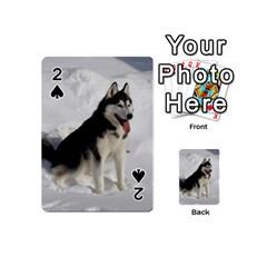 Siberian Husky Sitting in snow Playing Cards 54 (Mini)