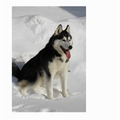 Siberian Husky Sitting in snow Large Garden Flag (Two Sides)