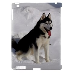 Siberian Husky Sitting in snow Apple iPad 3/4 Hardshell Case (Compatible with Smart Cover)