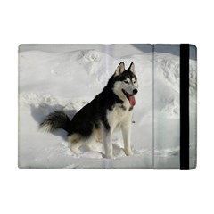 Siberian Husky Sitting in snow Apple iPad Mini Flip Case