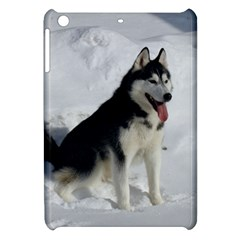 Siberian Husky Sitting in snow Apple iPad Mini Hardshell Case