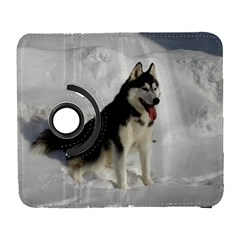 Siberian Husky Sitting in snow Galaxy S3 (Flip/Folio)