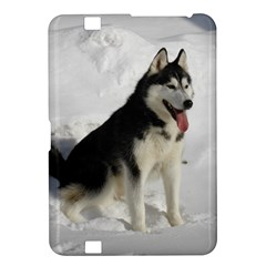 Siberian Husky Sitting in snow Kindle Fire HD 8.9