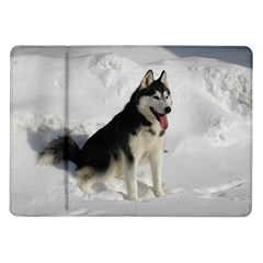 Siberian Husky Sitting in snow Samsung Galaxy Tab 10.1  P7500 Flip Case