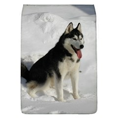 Siberian Husky Sitting in snow Flap Covers (L)