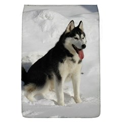 Siberian Husky Sitting in snow Flap Covers (S)