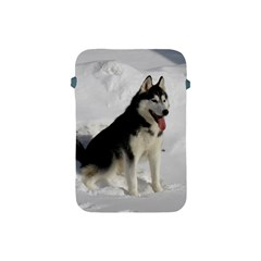 Siberian Husky Sitting in snow Apple iPad Mini Protective Soft Cases