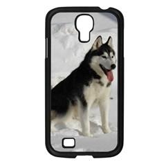 Siberian Husky Sitting in snow Samsung Galaxy S4 I9500/ I9505 Case (Black)