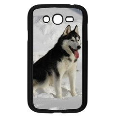 Siberian Husky Sitting in snow Samsung Galaxy Grand DUOS I9082 Case (Black)