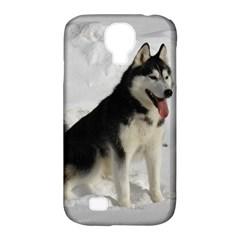 Siberian Husky Sitting in snow Samsung Galaxy S4 Classic Hardshell Case (PC+Silicone)