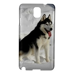 Siberian Husky Sitting in snow Samsung Galaxy Note 3 N9005 Hardshell Case