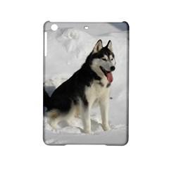 Siberian Husky Sitting in snow iPad Mini 2 Hardshell Cases