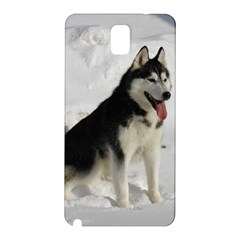Siberian Husky Sitting in snow Samsung Galaxy Note 3 N9005 Hardshell Back Case