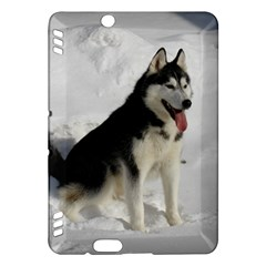 Siberian Husky Sitting in snow Kindle Fire HDX Hardshell Case