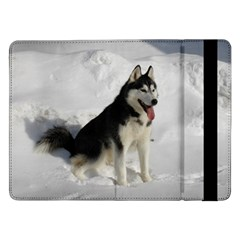 Siberian Husky Sitting in snow Samsung Galaxy Tab Pro 12.2  Flip Case