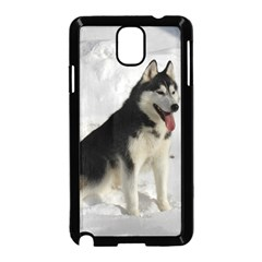 Siberian Husky Sitting in snow Samsung Galaxy Note 3 Neo Hardshell Case (Black)