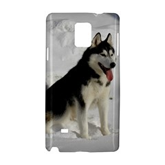 Siberian Husky Sitting in snow Samsung Galaxy Note 4 Hardshell Case