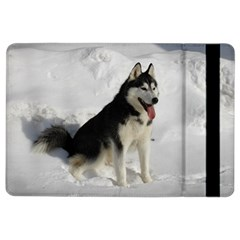 Siberian Husky Sitting in snow iPad Air 2 Flip