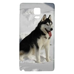 Siberian Husky Sitting in snow Galaxy Note 4 Back Case