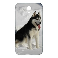 Siberian Husky Sitting in snow Samsung Galaxy Mega I9200 Hardshell Back Case