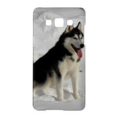 Siberian Husky Sitting in snow Samsung Galaxy A5 Hardshell Case