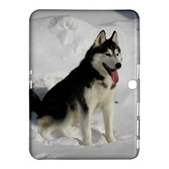 Siberian Husky Sitting in snow Samsung Galaxy Tab 4 (10.1 ) Hardshell Case