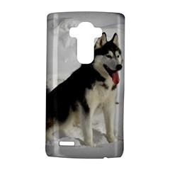 Siberian Husky Sitting in snow LG G4 Hardshell Case