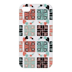 Mint Black Coral Heart Paisley Apple iPhone 4/4S Premium Hardshell Case