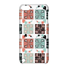 Mint Black Coral Heart Paisley Apple iPod Touch 5 Hardshell Case with Stand